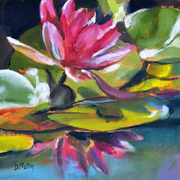 Wall Art - Painting - Where The Water Lilies Grow by Donna Tuten