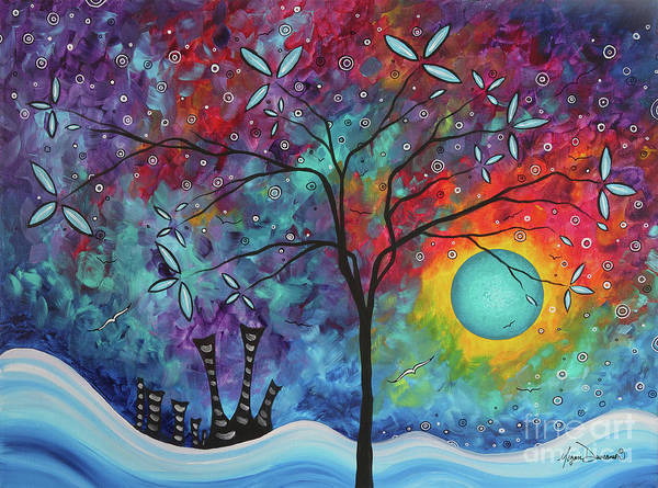Wall Art - Painting - Whimiscal Abstract Original Painting Tree Art By Megan Duncanson Madart by Megan Duncanson