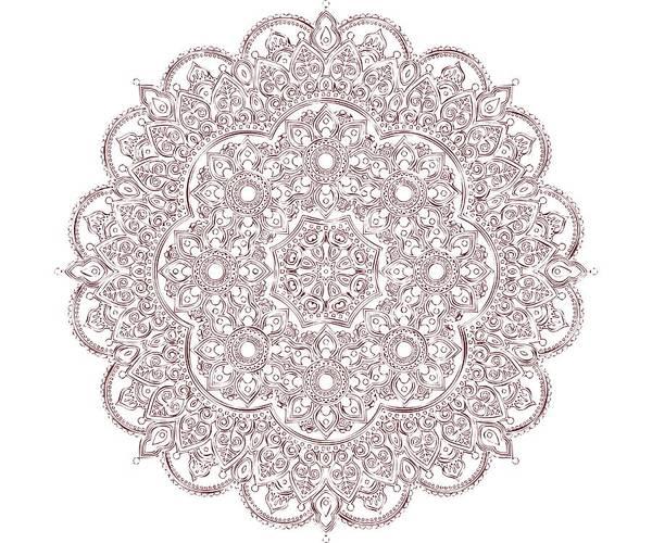 Digital Art - Whimsical Burgundy Mandala by Georgeta Blanaru
