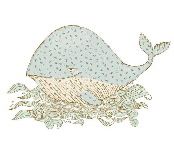 Digital Art - Whimsical Whale by Ruth Moratz