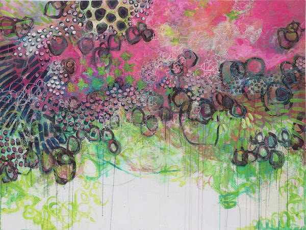 Painting - Whimsy In Pink by Laurie Maves ART