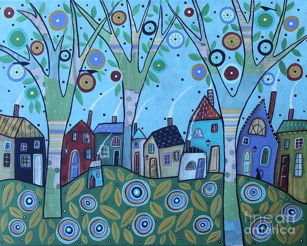 Wall Art - Painting - Whimsy Viilage by Karla Gerard