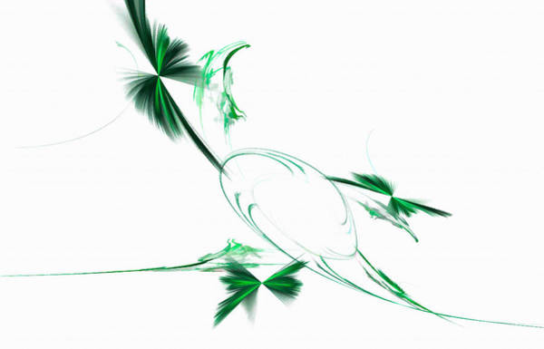 Digital Art - Whirling Hummingbirds Green by Don Northup