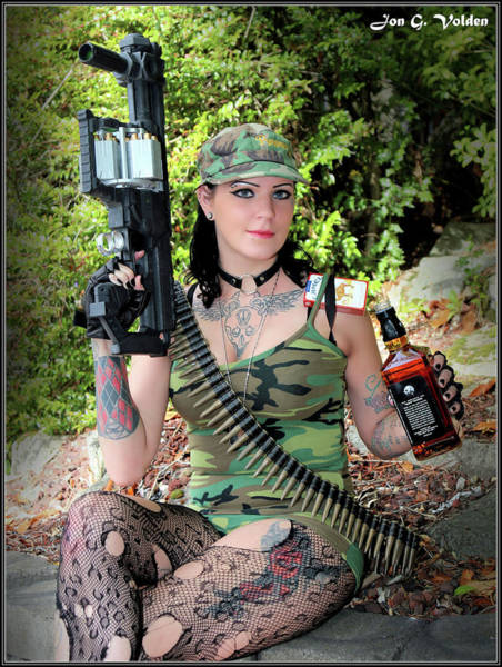 Photograph - Whiskey And Weapons by Jon Volden