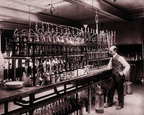 Photograph - Whiskey Test Lab 1914 by Doc Braham