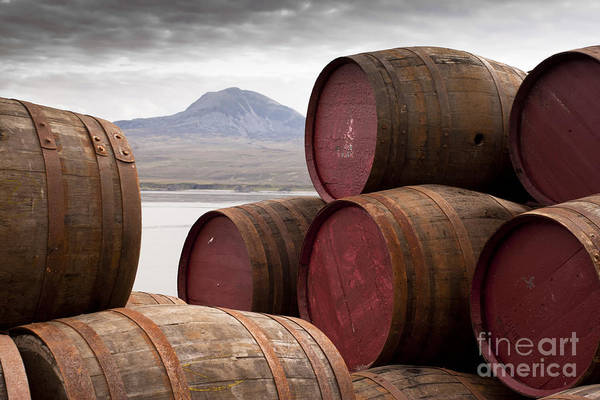 Wall Art - Photograph - Whisky Barrels On Islayview Over To by Scott Jessiman Photo