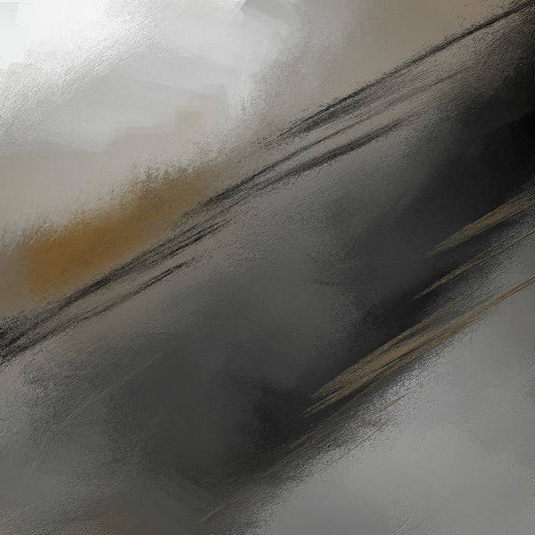Wall Art - Painting - Whispered - Gray And Taupe Abstract Art by Lourry Legarde
