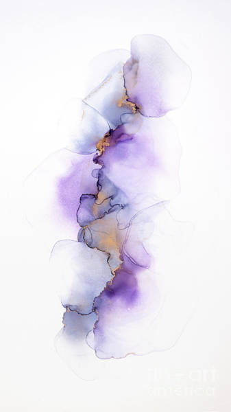 Painting - Whispy Floral Abstract Painting In Purple by Alissa Beth Photography