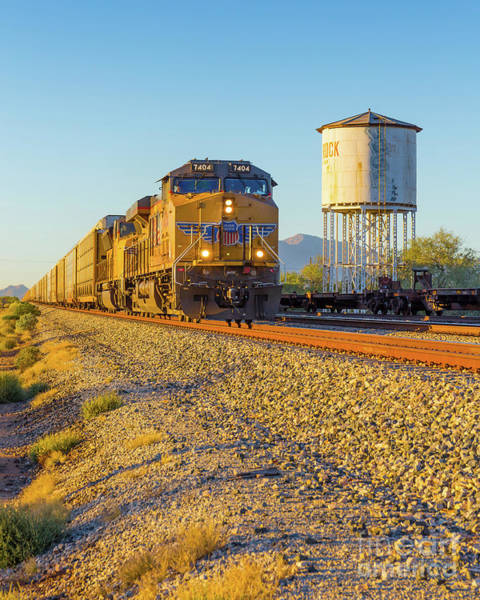 Train Car Photograph - Whistle Through Red Rock by Edward Fielding