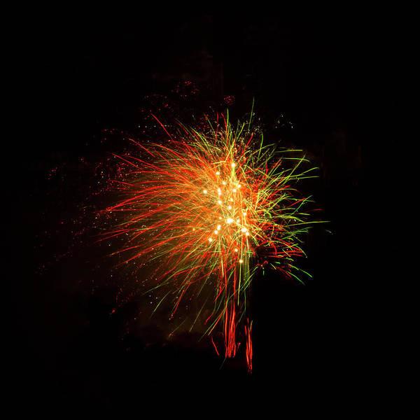 Photograph - Whistleblower Fireworks On Black by Bonnie Follett