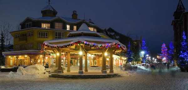 Whistler Photograph - Whistler Village Stroll At Night by Ginevre