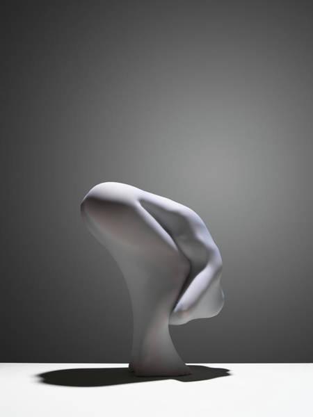 Hiding Photograph - White Abstract 2 by John Lamb