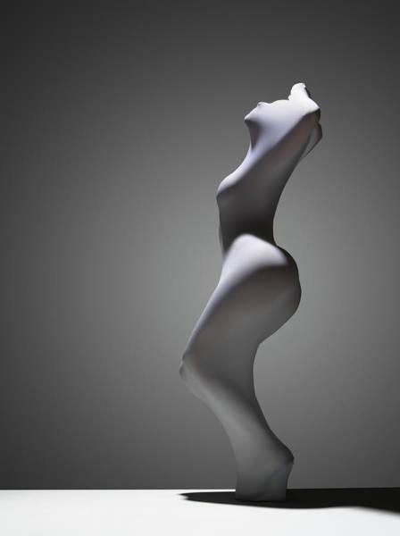 Hiding Photograph - White Abstract by John Lamb