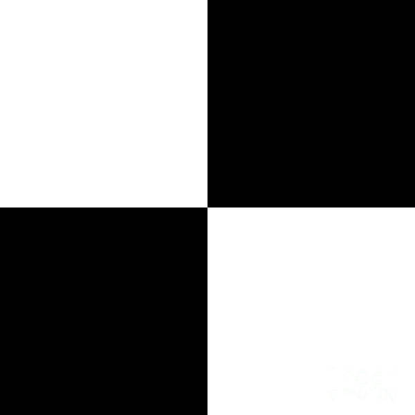 White And Black Squares - Ddh588 Art Print