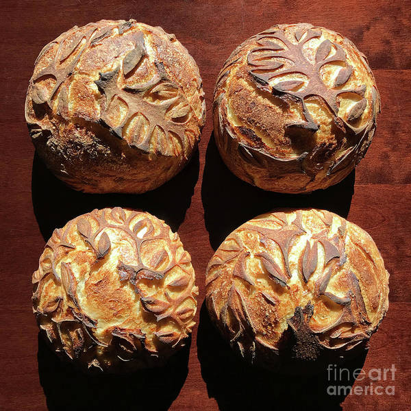 Photograph - White And Rye Sourdough With Leaf Motif 3 by Amy E Fraser