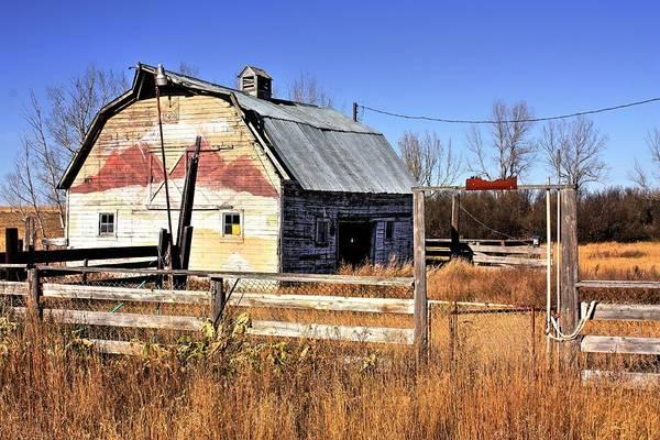 Photograph - White Barn 1 by David Matthews
