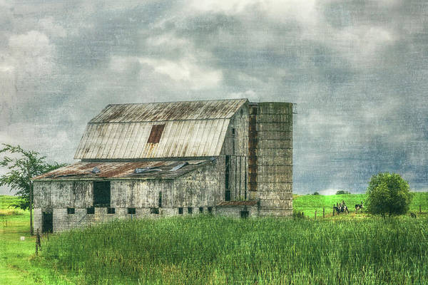 Photograph - White Barn In The Country by Debra and Dave Vanderlaan