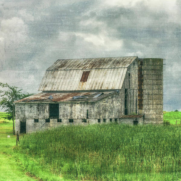 Wall Art - Photograph - White Barn In The Country In Square by Debra and Dave Vanderlaan
