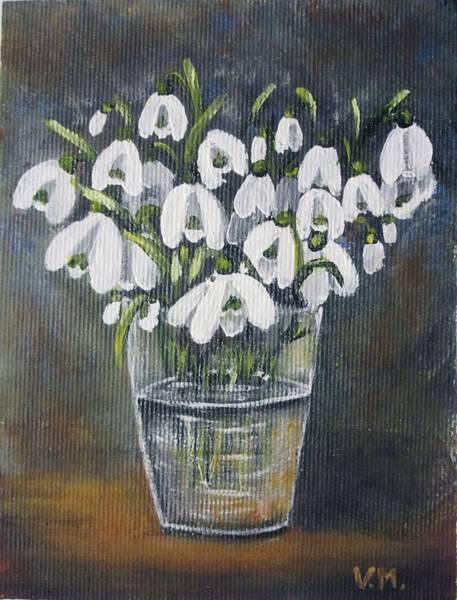 Snowdrop Painting - White Beauties by Vesna Martinjak