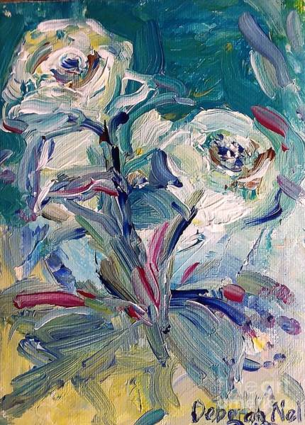 Painting - White Blooms by Deborah Nell