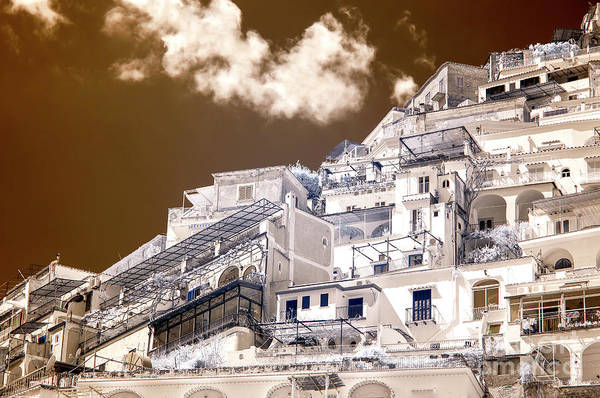 Wall Art - Photograph - White Buildings In Positano Infrared by John Rizzuto