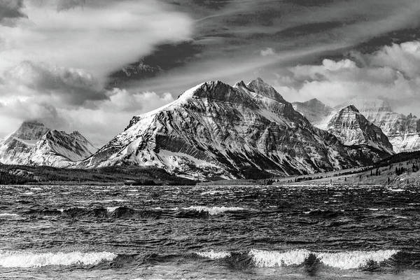 Photograph - White Caps At Glacier In Bw by Todd Klassy