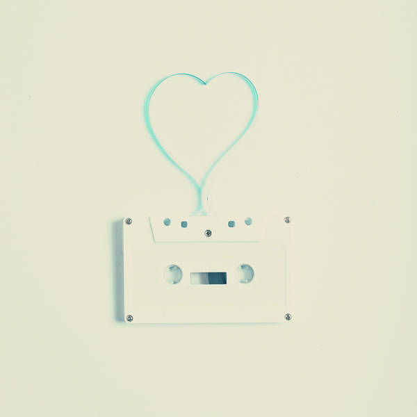 Colombian Wall Art - Photograph - White Cassette Tape by Andrea Carolina Photography