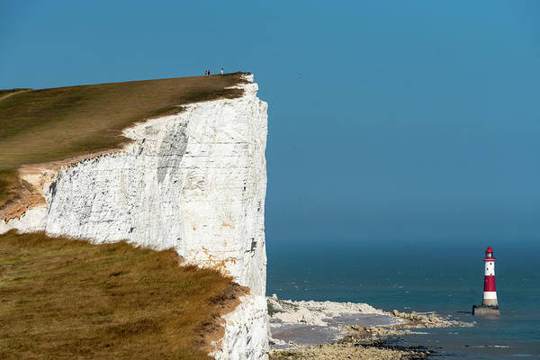 Photograph - White Cliffs And Beachy Head Light by Marzena Grabczynska Lorenc