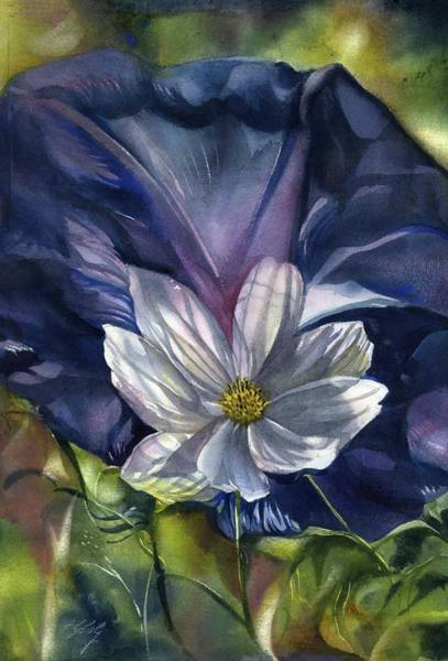 Painting - White Cosmos by Alfred Ng