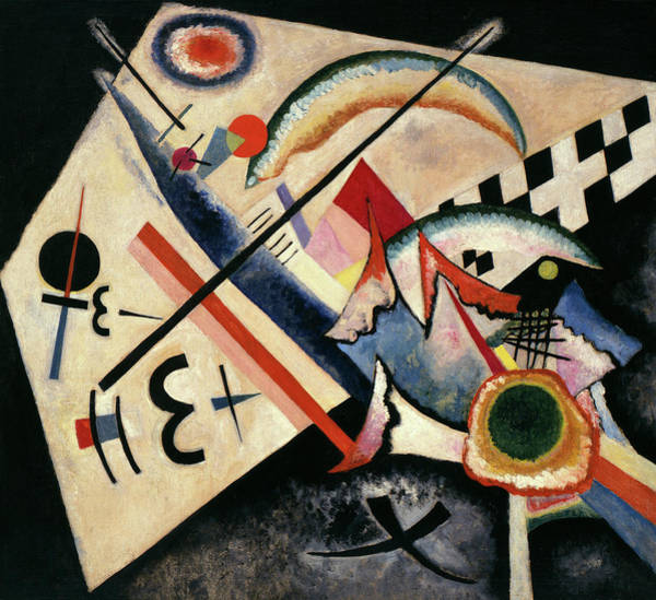 Visual Illusion Wall Art - Painting - White Cross - Weisses Kreuz, 1922 by Wassily Kandinsky