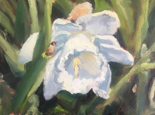 Wall Art - Painting - White Daffodil by Susan Elizabeth Jones