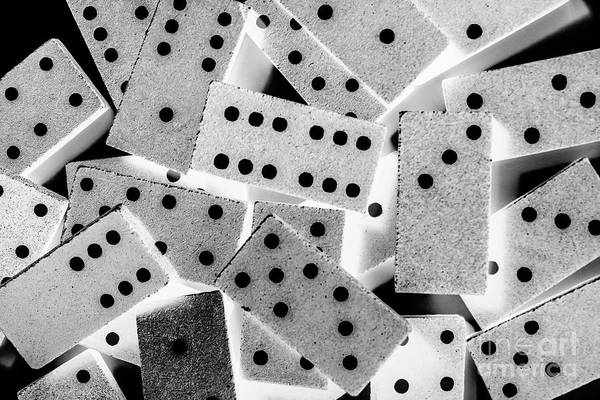 Wall Art - Photograph - White Dots Black Chips by Jorgo Photography - Wall Art Gallery