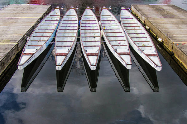 Dragon Boats Wall Art - Photograph - White Dragonboats by Photography By Jason Gallant