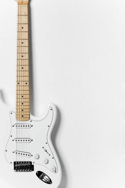 Copy Photograph - White Electric Guitar by Stock4b Creative