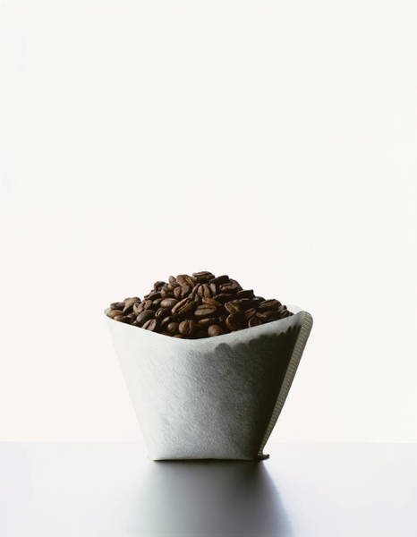 Wall Art - Photograph - White Filter Filled With Roasted Coffee by Kevin Summers
