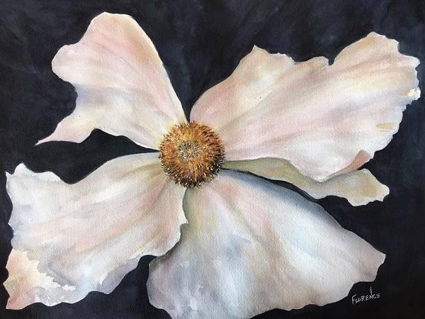 Painting - White Flower  by Florence Ferrandino