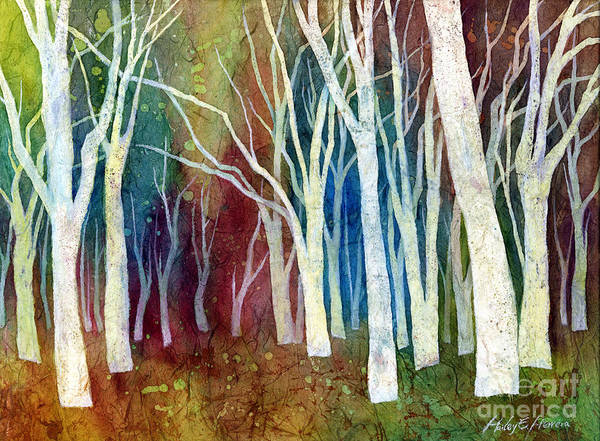 Wall Art - Painting - White Forest I by Hailey E Herrera