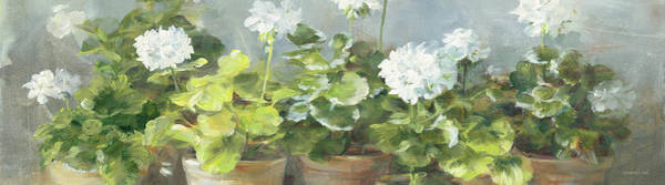 Wall Art - Painting - White Geraniums V2 Crop by Danhui Nai