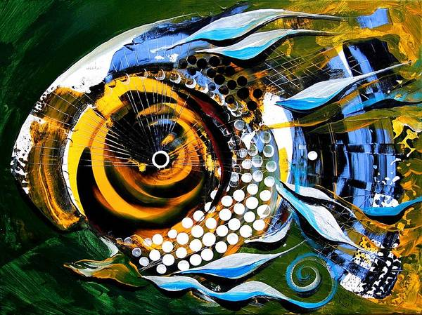 Painting - White-headed Mouth Fish by J Vincent Scarpace