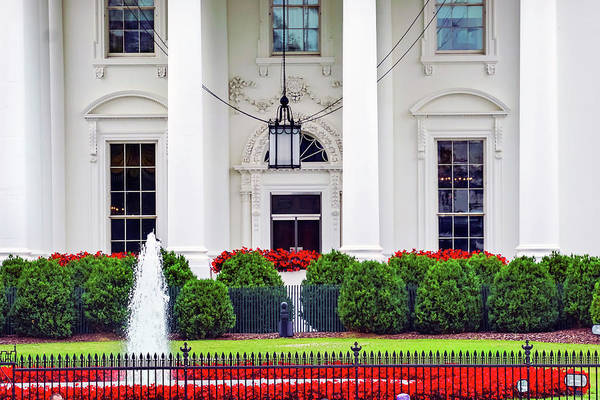 Wall Art - Photograph - White House, Pennsylvania Ave by William Perry