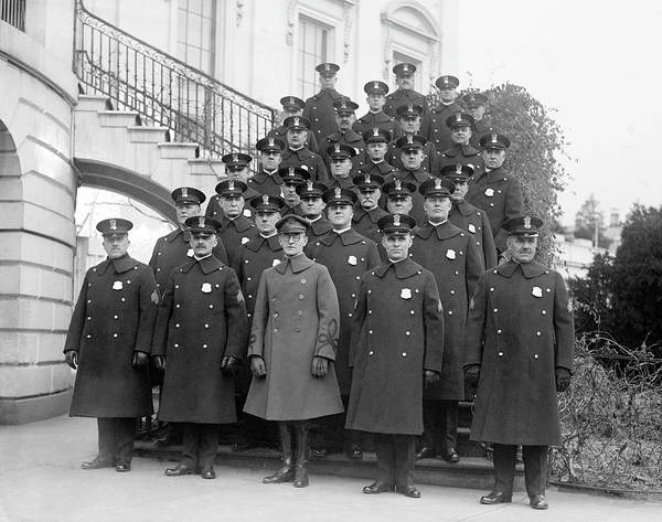 Wall Art - Photograph - White House Police Detail - 1923 by War Is Hell Store