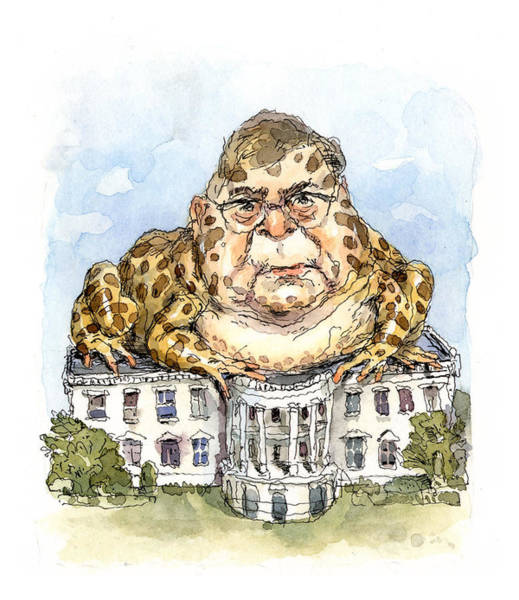 Kissing Painting - White House Toady by John Cuneo