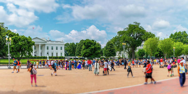 Photograph - White House Tourists by SR Green