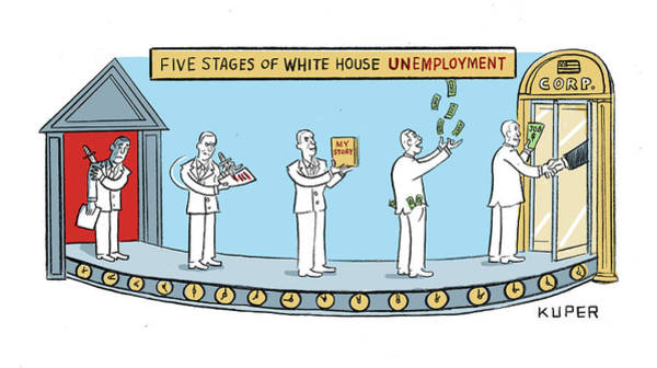 Wall Art - Painting - White House Unemployment by Peter Kuper