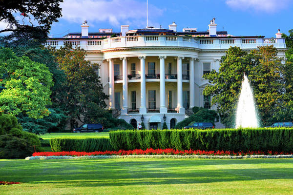 Ornamental Grass Photograph - White House by Visions Of Our Land