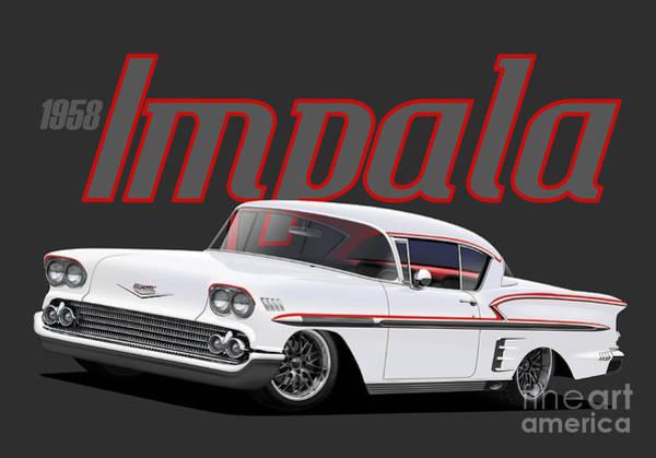 Wall Art - Digital Art - White Impala by Paul Kuras