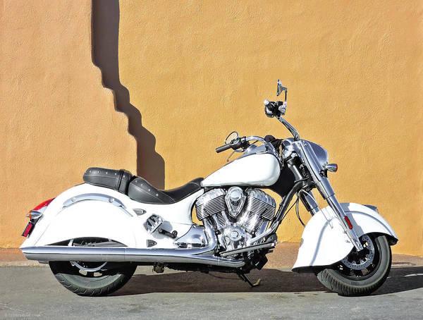 Photograph - White Indian Motorcycle by Britt Runyon