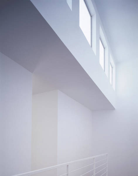 Home Interior Photograph - White Interior With Windows by Kjohansen