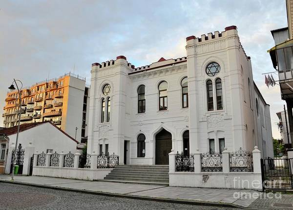 Photograph - White Jewish Synagogue Building With Star Of David Batumi Georgia by Imran Ahmed