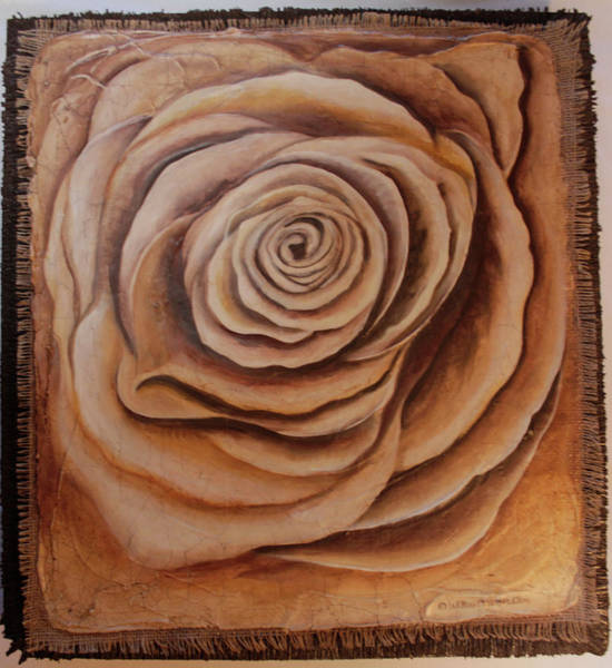 Painting - White, Milk, And  Dark Chocolate Rose by William T Templeton
